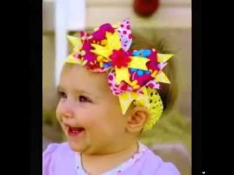 Baby Hair Bands With Flowers Youtube