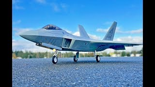 That Landing!! Freewing F-22 Raptor 90mm EDF Jet Flight! F22 Motion RC