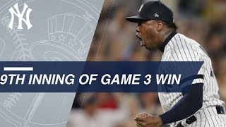 Aroldis Chapman shuts down Indians to secure save in Game 3 of the ALDS