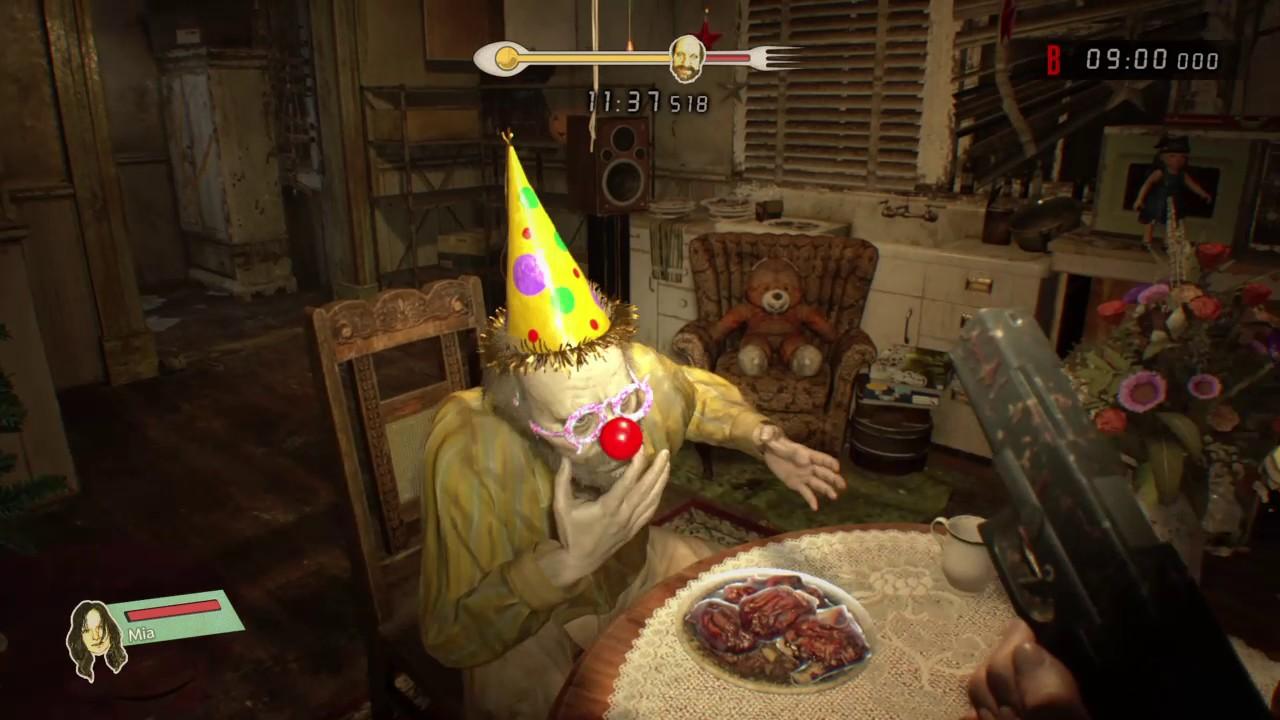 RESIDENT EVIL 7 biohazard Jack's 55th birthday party - YouTube