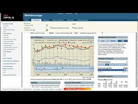 How to find stock reports for Ford, General Motors, and other companies in the automobile industry