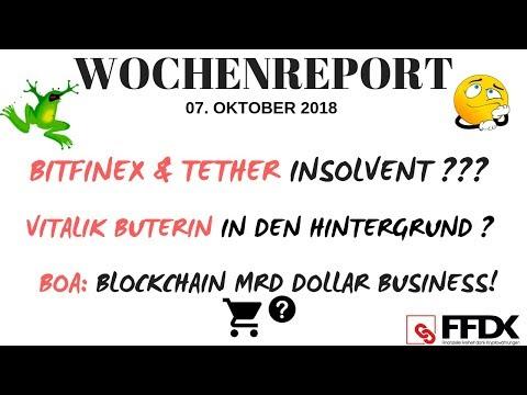 BITFINEX & TETHER PLEITE? 😱GELDGEBER NOBLE BANK INSOLVENT? Buterin zieht sich zurück?! Deutsch
