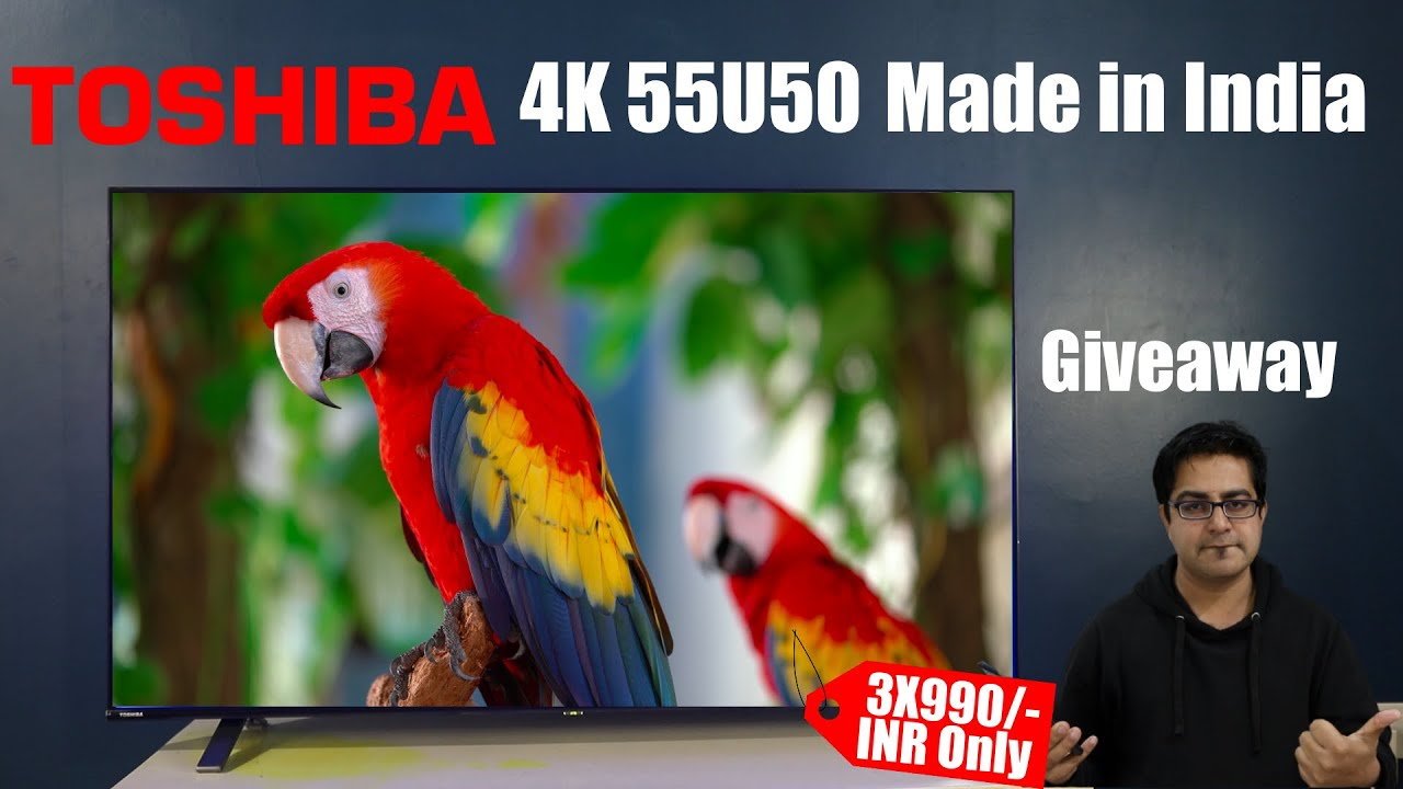 Best 4K 55 Inch SmartTV in just 3X990/- INR I Giveaway.. Made in India