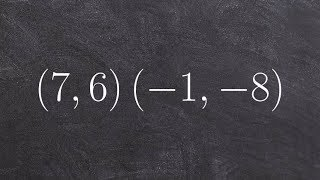Learn to graph a ciŗcle when given two points o the diameter