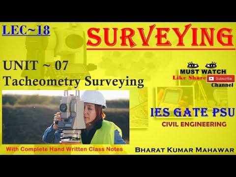 Surveying~ Lec 18~U7~ Tacheometry Surveying(Basics & Theory of Tachometer) by Bharat Kumar Mahawar
