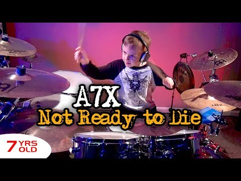 """Not Ready to Die, A7X"" Avery 7 year old Drummer"
