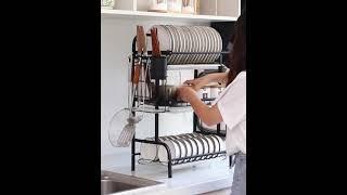 가정용 스텐 그릇정리대 설거지 건조대 선반 2색상