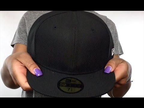 f8f48bd8ec New Era  DIAMOND TECH 59FIFTY-BLANK  Black Fitted Hat - YouTube