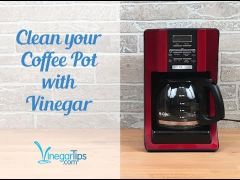 Clean Your Coffee Pot with Vinegar