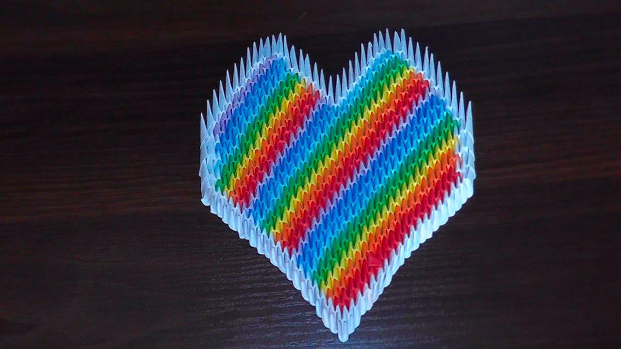 модульное оригами радужная ваза, схема сборки