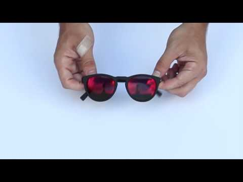 unbreakable-sunglasses-by-reks,-black-round-with-red-mirrored-polarized-lenses