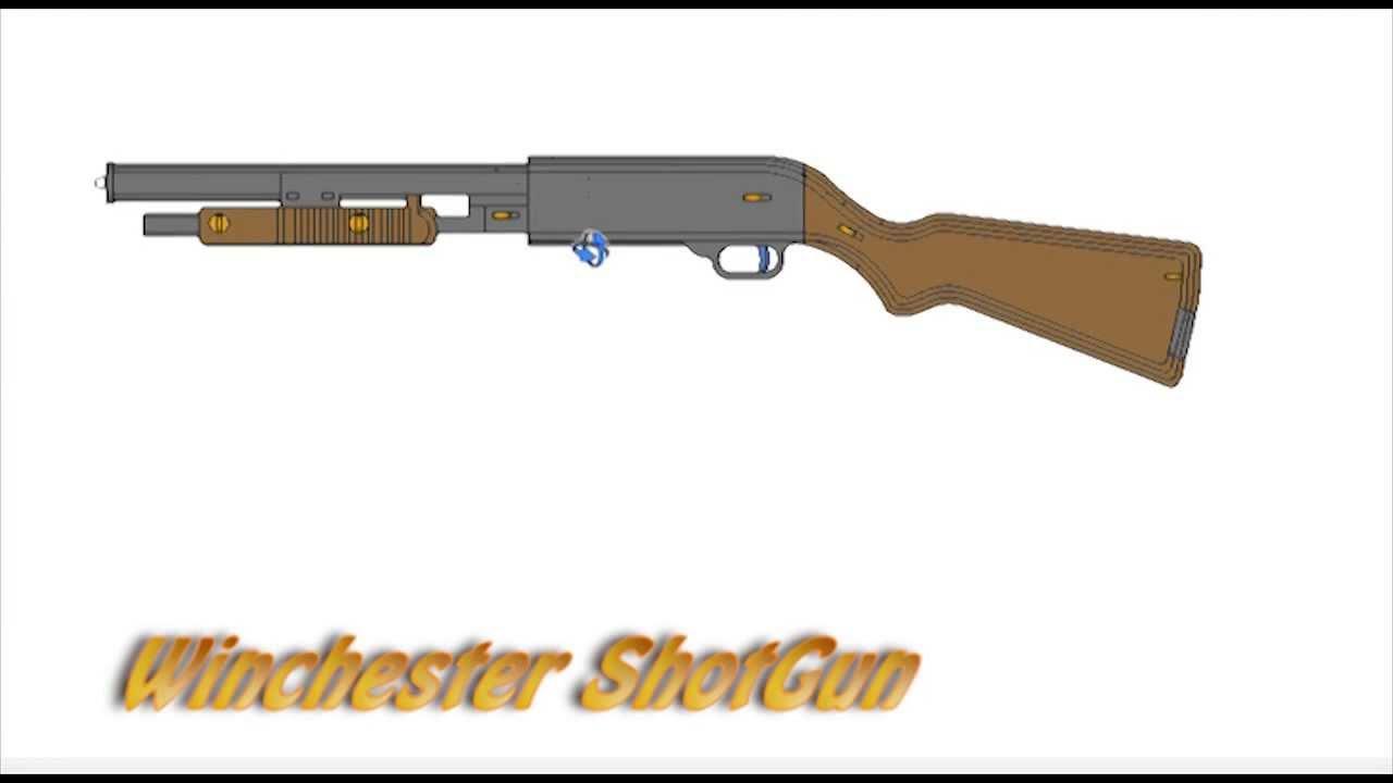 Winchester Shotgun Rubberband Powered Gun Plans Laser