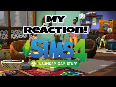 Finally, Doing Laundry(Reaction) // The Sims 4 Laundry Day Stuff Pack! |