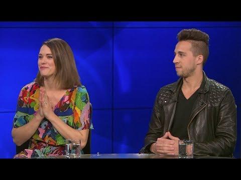 """Lyndsy Fonseca & Diego Hallivis on New Movie """"Curvature"""""""