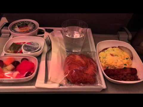 Plane/Flight Food Emirates Airlines Measl Breakfast USA - Dubai Round Trip