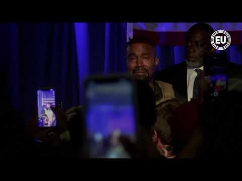 Kanye West realiza el lanzamiento de su campaña ante la incertidumbre de simpatizante