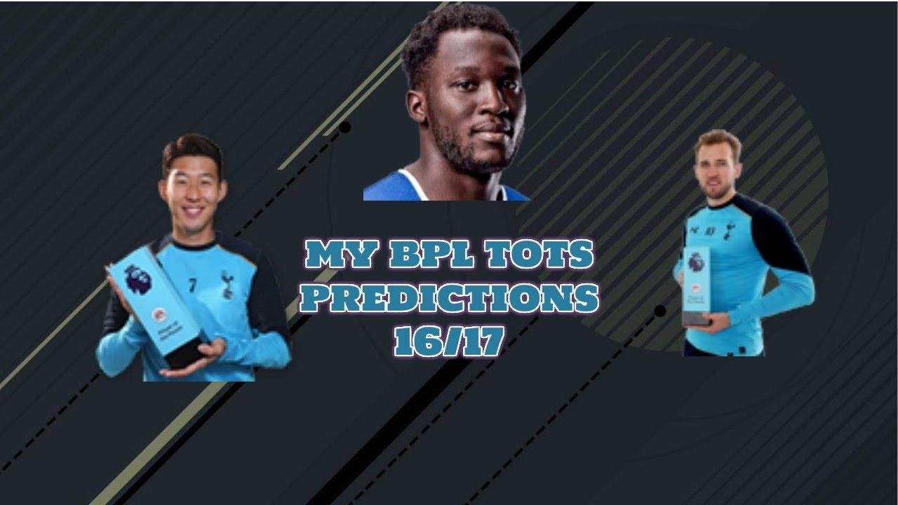 MY FIFA 17 BPL TOTS PREDICTIONS 16/17 - YouTube