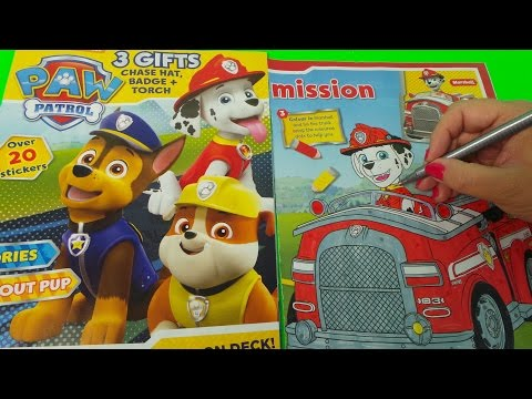 How to Basic Color PAW PATROL Marshall & Fire Engine