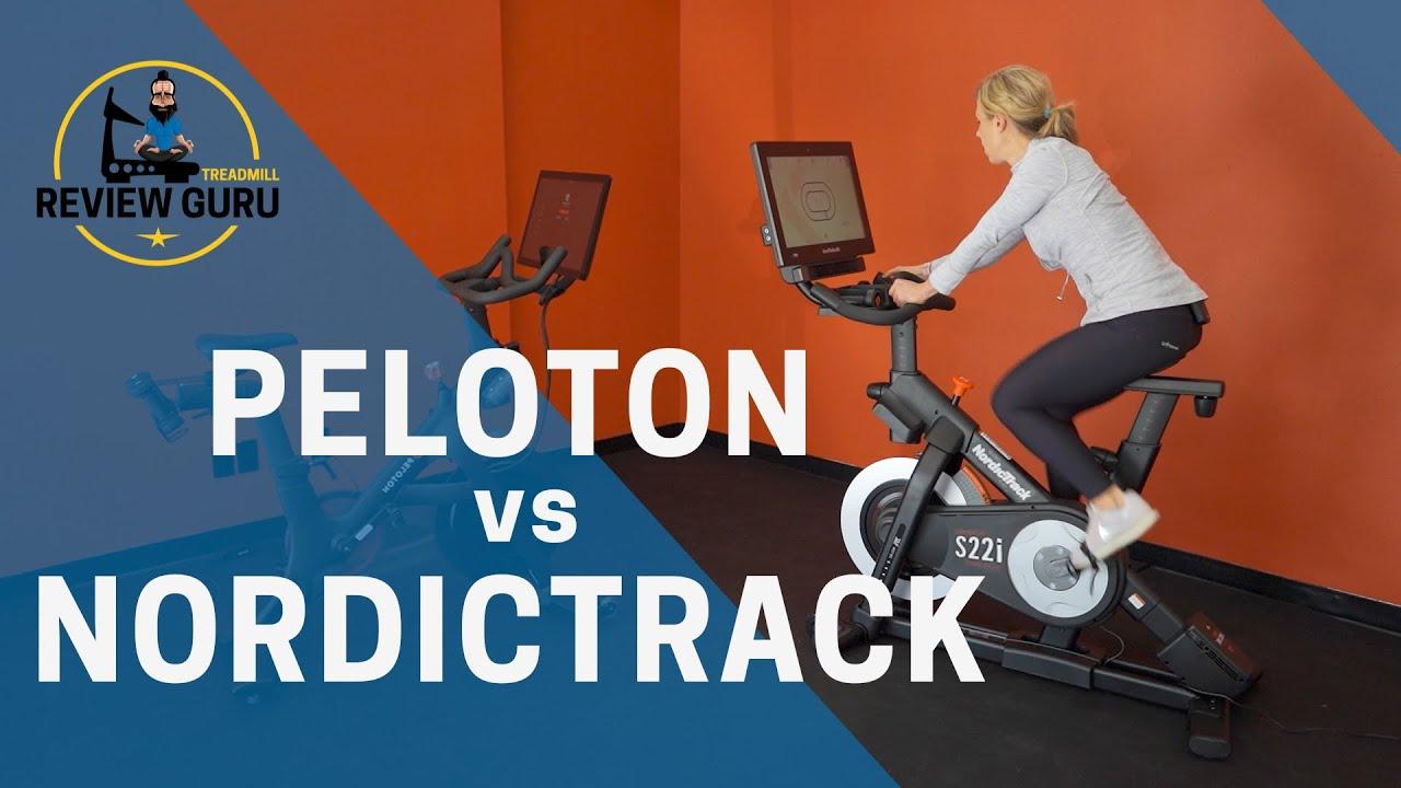 Peloton Vs Nordictrack S22i Studio Cycle Youtube