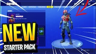 NEW WINGMAN STARTER PACK SKIN IN FORTNITE BATTLE ROYALE! (New Season 4 Starter Pack Victory Royale!)