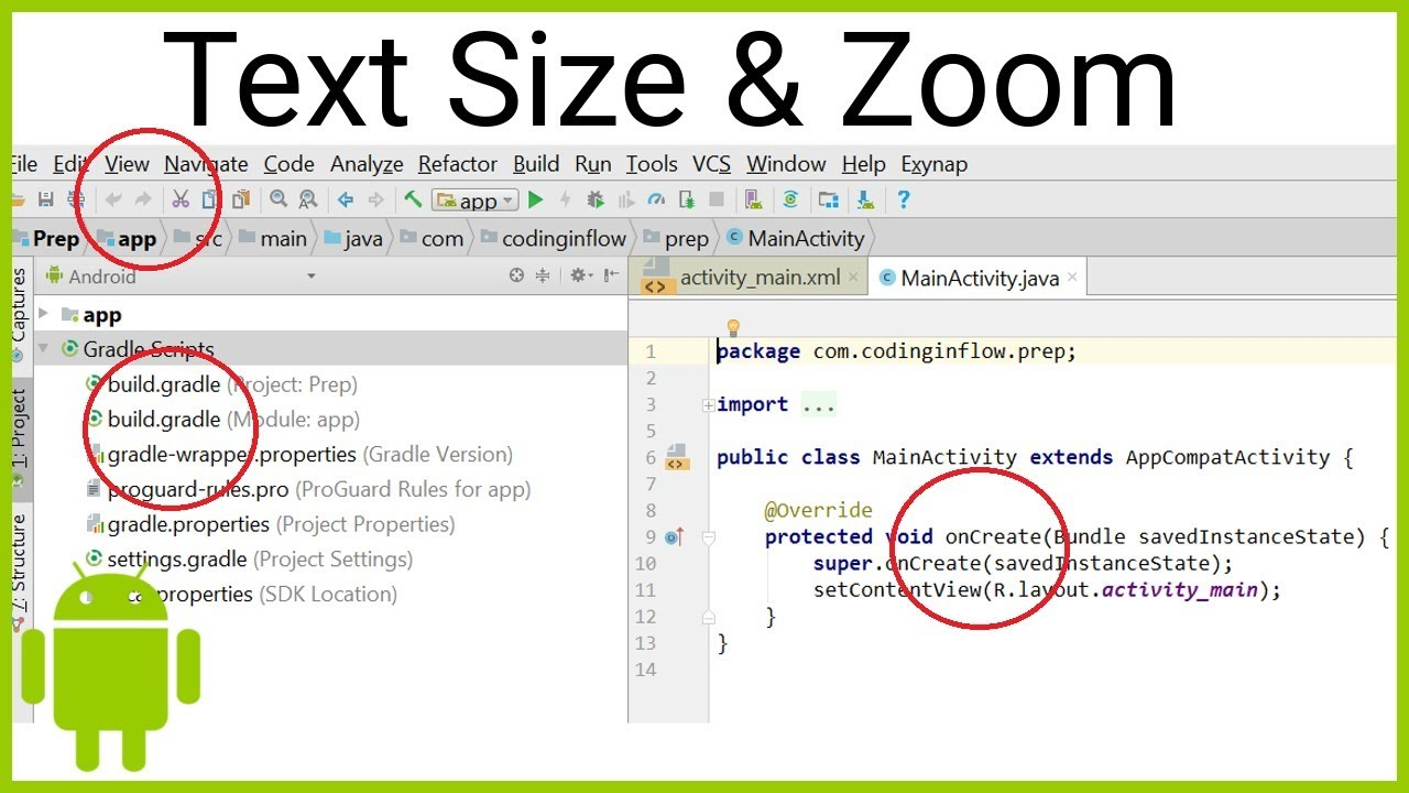 How to Change the IDE Text Size in Android Studio and Activate Mouse Wheel  Zoom
