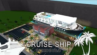 Roblox Bloxburg | Cruise Ship Speedbuild