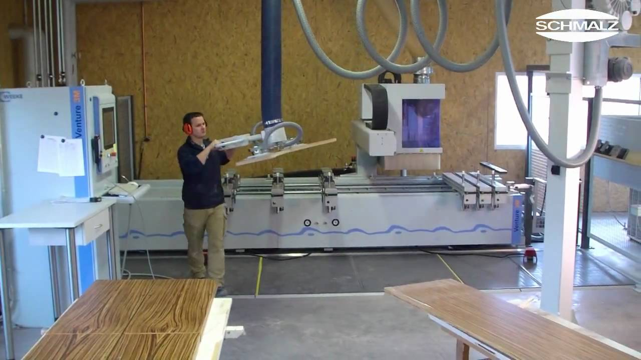 Vacuum Tube Lifter For Fast And Precise Loading Of Cnc Woodworking