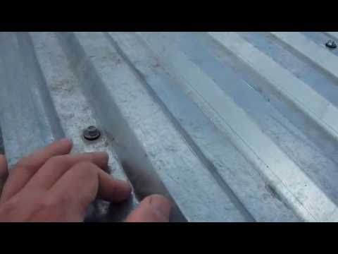 Как прикрутить металлопрофиль на крыше