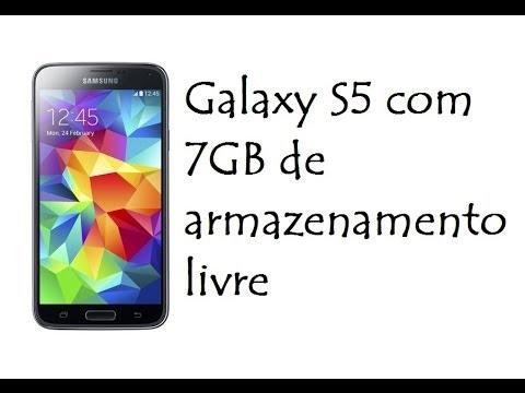 Galaxy S5 com 7GB de armazenamento livre / DavidTecNew / PT BR