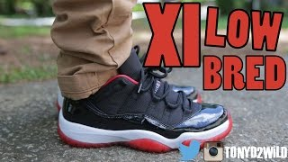 "2015 Jordan 11 Low ""Bred"" w/ On Foot"