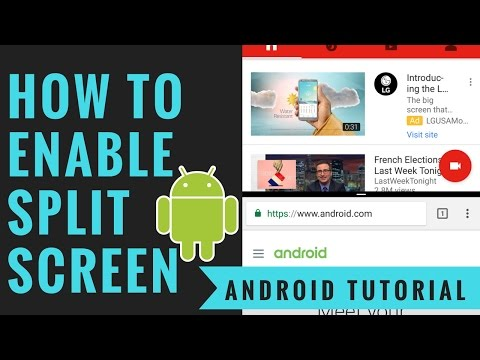 How To Enable Android Split Screens - Multitasking Mode Tutorial