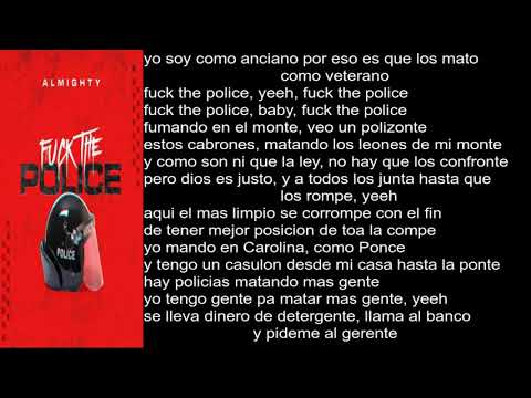 Almighty Fuck The Police [Letra]