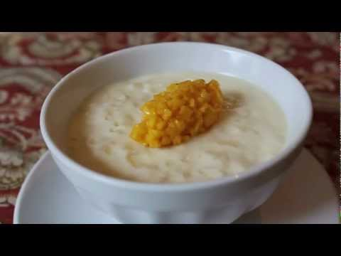 Rice Pudding Recipe - Coconut Milk Rice Pudding with Mango - YouTube