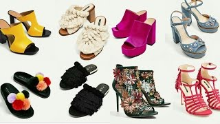 Sandalias de tacón y planas para Primavera Verano 2018 | Moda Zapatos Tendencia | Calzado Mujer Zara