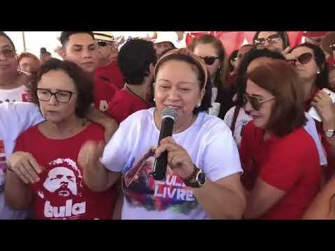 Fátima vai a aniversário de Lula em Natal e diz que RN ama ex-presidente