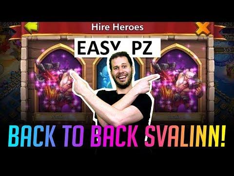 Rolling Svalinn BACK 2 BACK LETS GOOOOOOO! Castle Clash