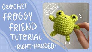How to crochet a fŗog (Right Handed) | Frog Amigurumi Tutorial