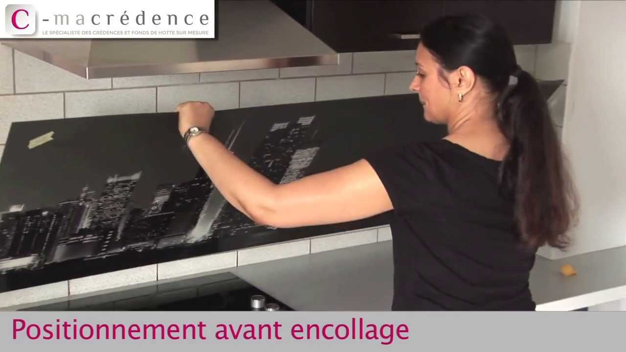 Pose simple d 39 une cr dence cmacr dence youtube - Credence cuisine autocollante ...