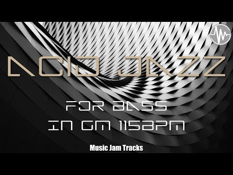 ACID JAZZ For【Bass】G Minor 115bpm No Bass BackingTrack