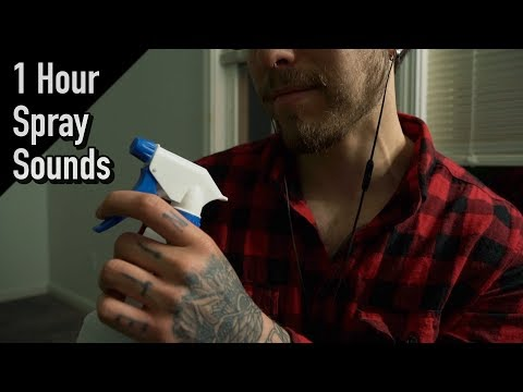 1 Hour Relaxing Spray Bottle Sounds | ASMR Audio Therapy |