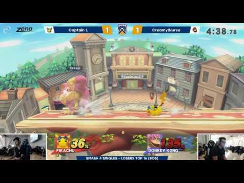 Battle of BC 2 | Captain L (Pikachu) vs Creamy|Nurse (Donkey Kong, Luigi) | Smash 4 Losers Top 16
