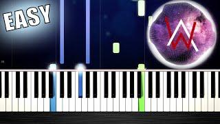 Alan Walker - Force - EASY Piano Tutorial by PlutaX