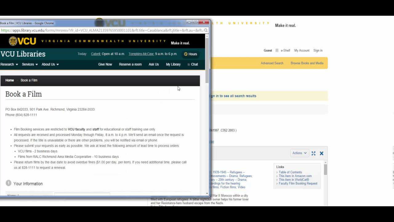 Film Booking Request Tutorial - YouTube