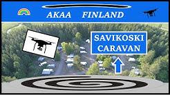 Savikoski Caravan. Pirkanmaa, Finland - drone 4K