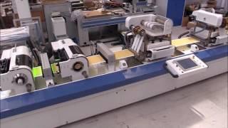 MA 350 machine de finition combinée: sérigraphie + poste flexo + plusieurs dorures galbées
