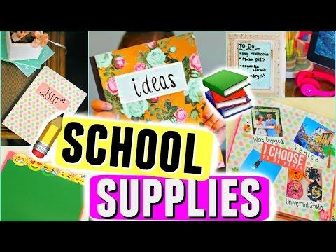 DIY SCHOOL SUPPLIES + DIY ORGANIZATION IDEAS FOR SCHOOL! EASY DIYS FOR SCHOOL SUPPLIES!