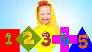Cinco Pequeños Bebés  Aprender formas  - Cancion Infantil | Canciones Infantiles con Nicole