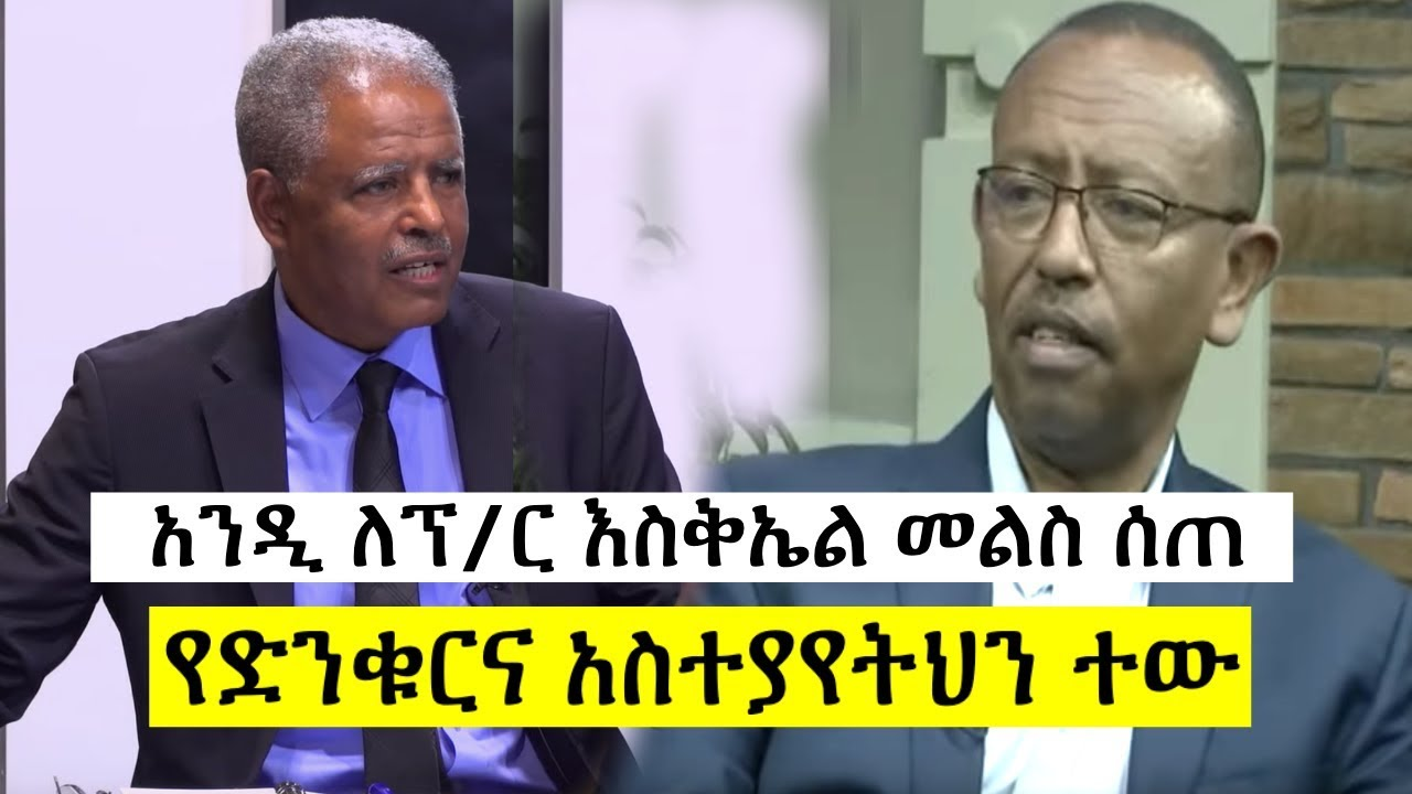 Ethiopia - Andy gave appropriate response to prof. Eskiel Gabis's remark on Fana Tv