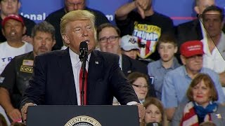Trump rails against MS-13 and promises more immigration control