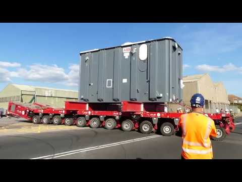 IFA2 Transformer Delivery By Barge And Transporter To The Interconnector Site UK